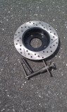 Rear rotor and caliper compression tool